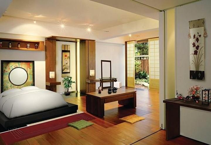 Ložnice v asijském stylu