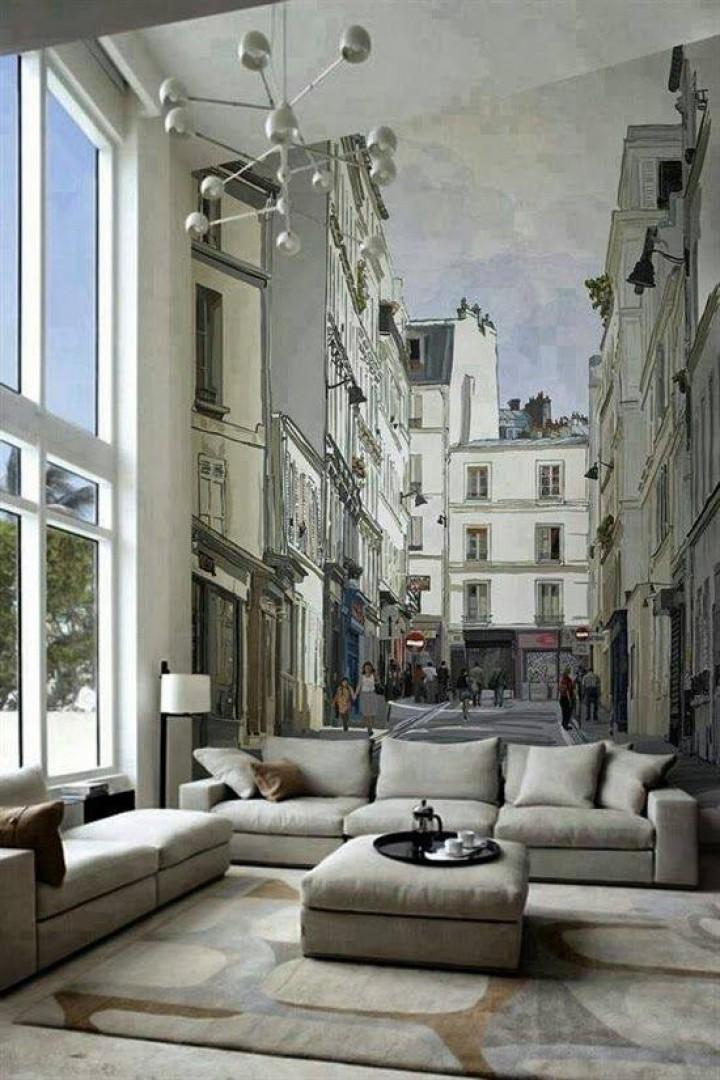 Tapety v obývacím pokoji