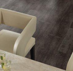 Luxusní jídelna s podlahou Steel