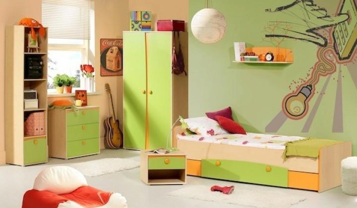 Dětský pokoj v zelené barvě