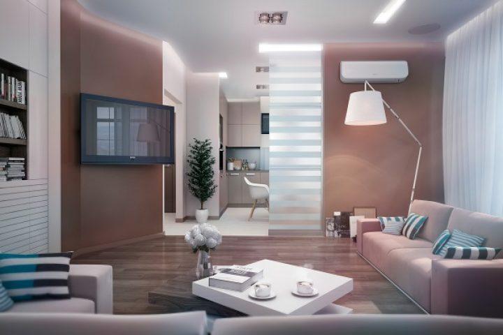 Moderní interiér v růžových tónech