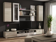 Obývací stěna s nízkým TV stolkem