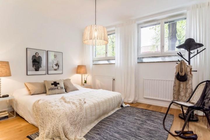 Stylová ložnice kombinuje hned několik stylů
