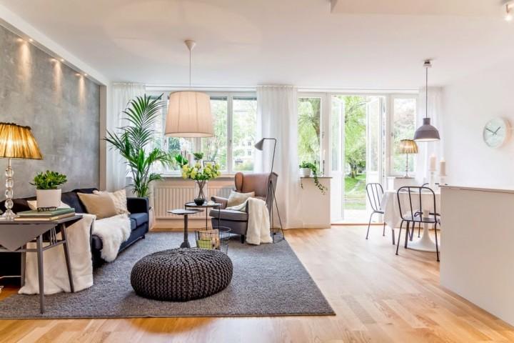 Obývací pokoj jako součást jídelny