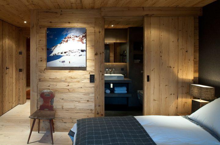 Ložnice ve dřevě