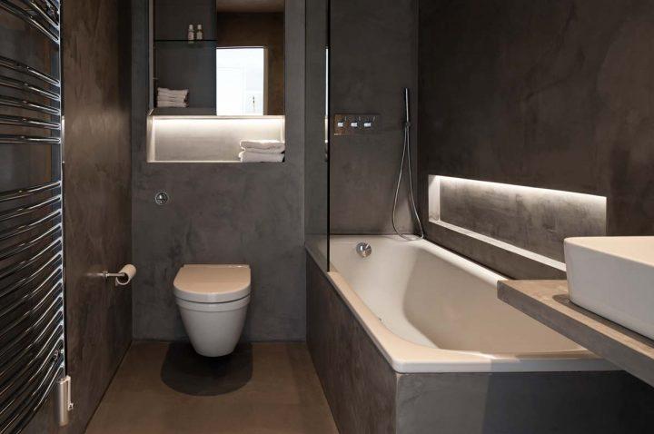 Luxusní jednobarevná koupelna