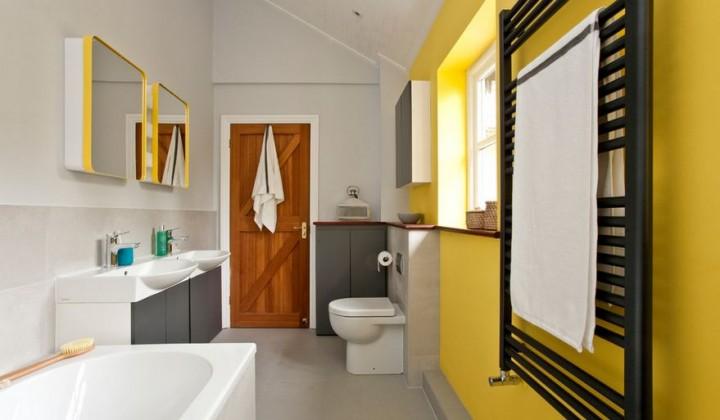 Vsaďte v koupelně na žlutou barvu