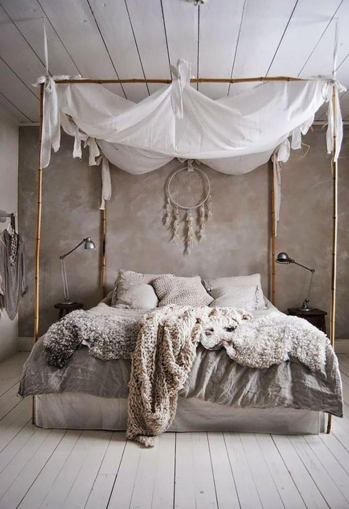 Ložnice s přírodními prvky