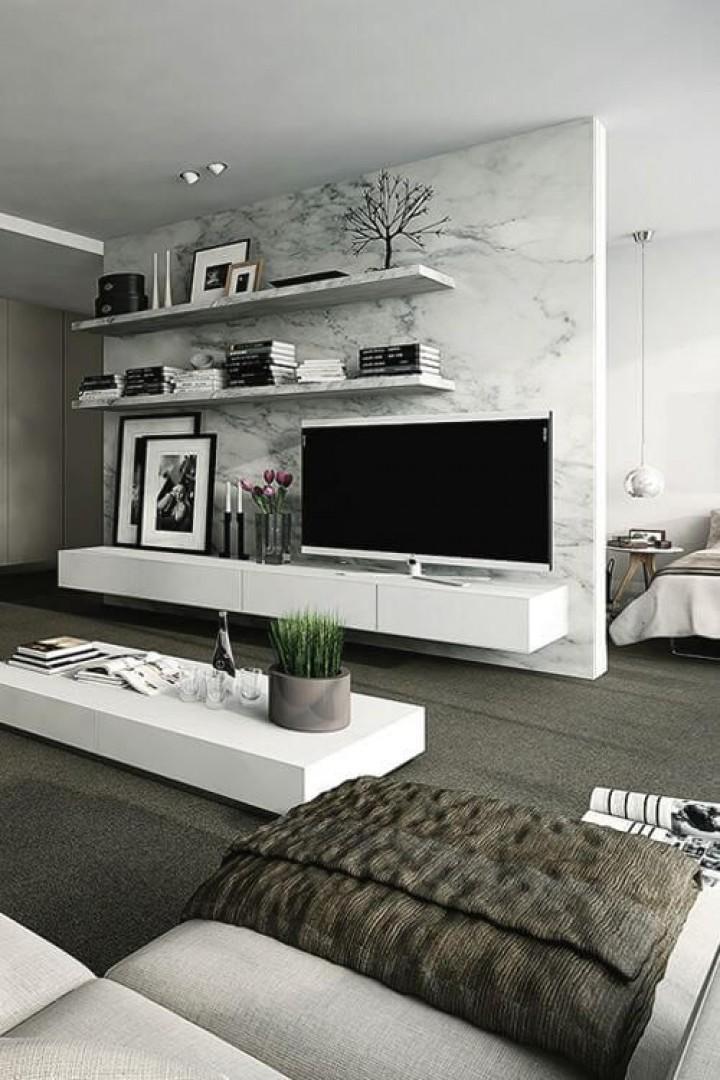 Luxusní obývací stěna v interiéru