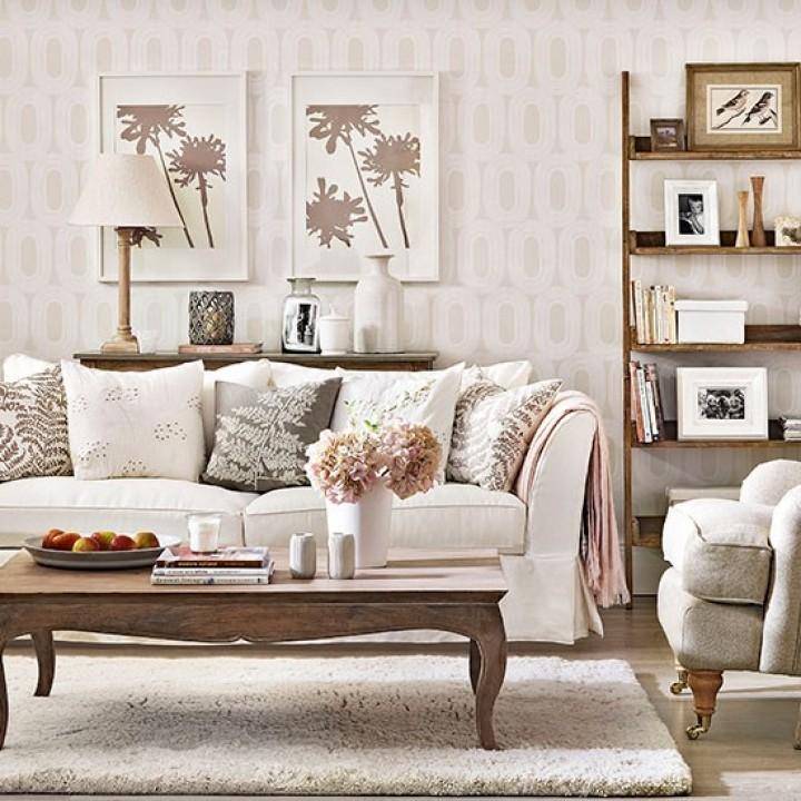 Obývací pokoj v podzimních barvách