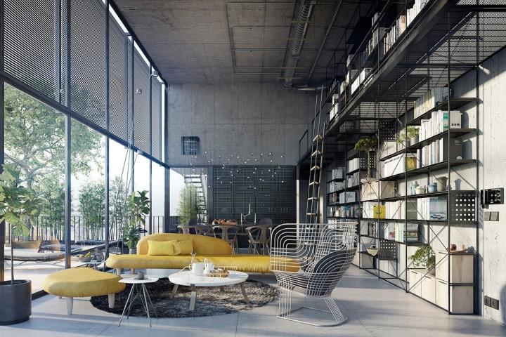 Unikátní obývací pokoj s prostornou sedací soupravou