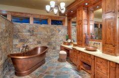 Luxusní rustikální koupelna