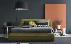 Stylová postel Supersoft v zelené barvě