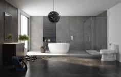Prostorná koupelna se sprchovým koutem