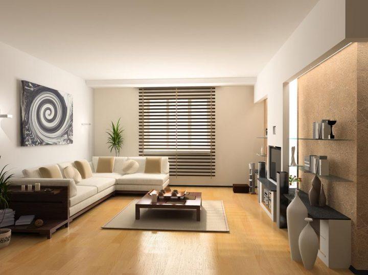 Luxusní obývací pokoj v přírodních odstínech