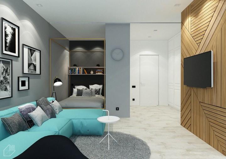 Sofistikovaný obývací pokoj