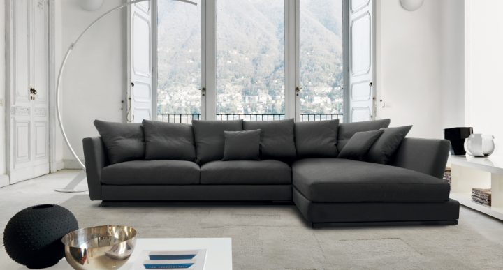 Elegantní sedací souprava v černé barvě