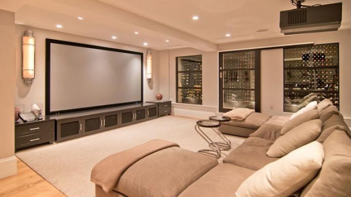 Luxusní kinosál v domácím stylu