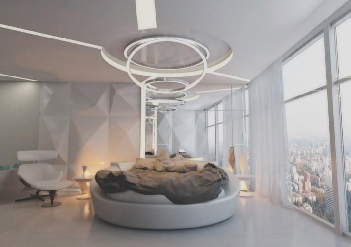 Luxusní ložnice v bílé