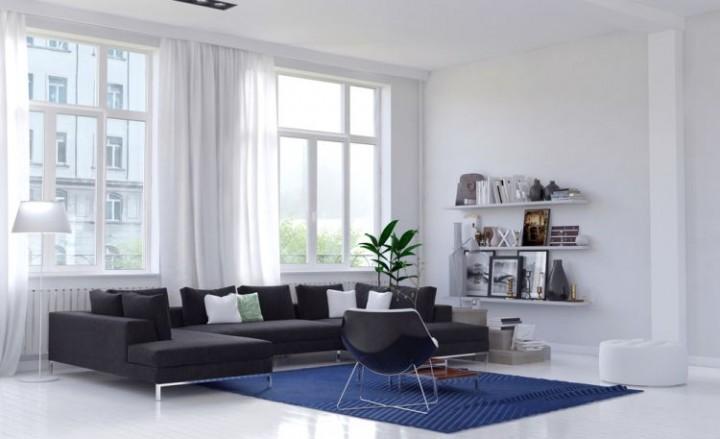 Teplé barvy v obývacím pokoji