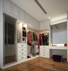 Elegantní šatna v interiéru