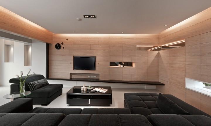 Obývací pokoj ve dřevě