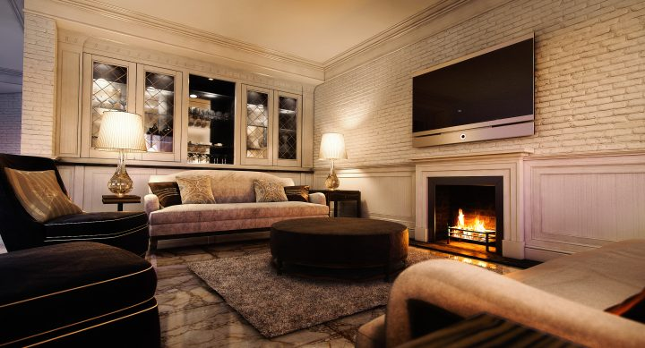 Luxusní obývací pokoj v interiéru