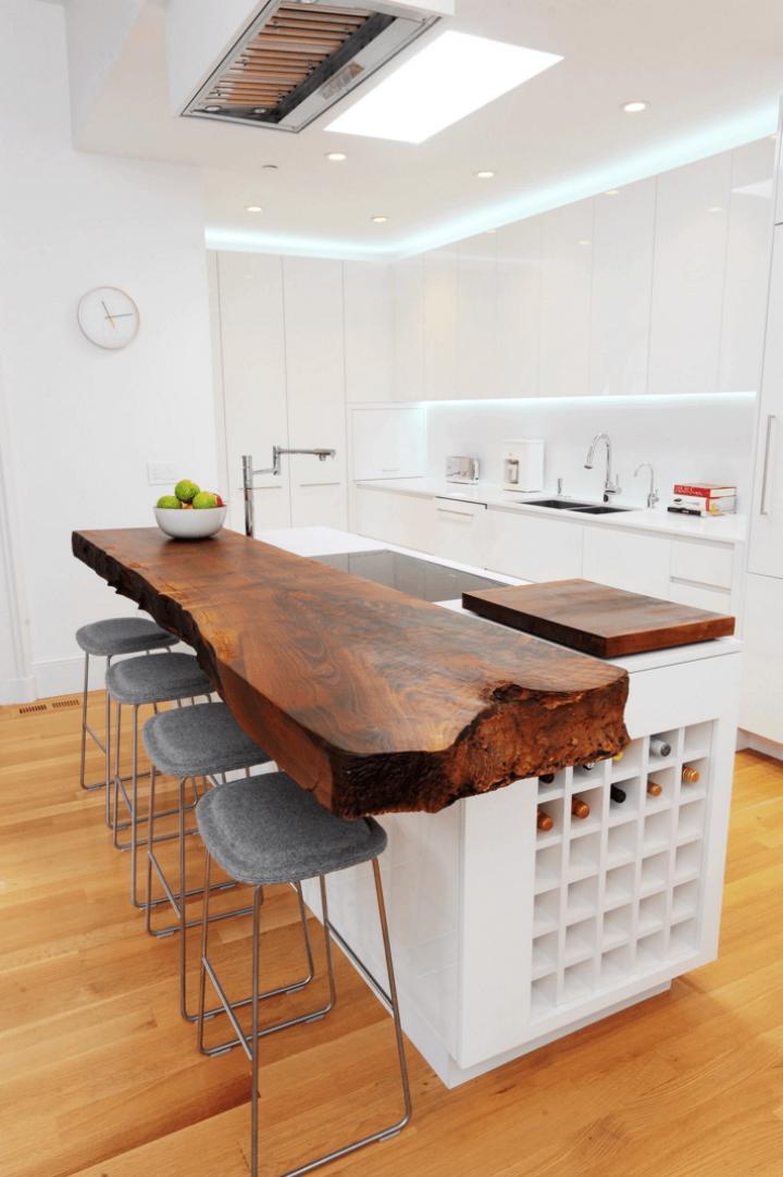 Kuchyň s přírodními materiály