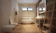 Jednoduchá koupelna v luxusním pojetí