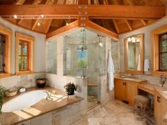 Prostorná originální koupelna