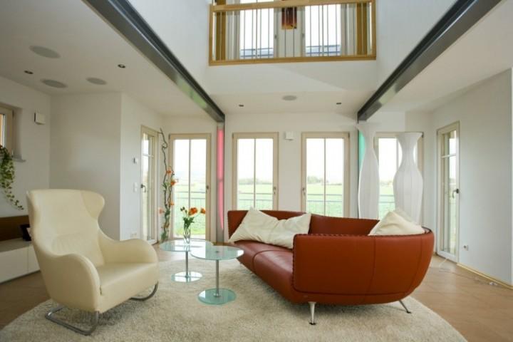 Obývací pokoj s prostornou sedací soupravou