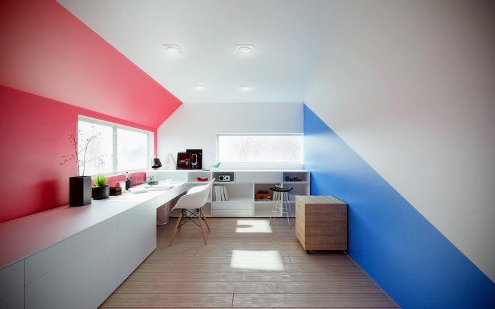 Světlá pracovna v duchu minimalismu