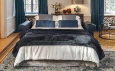 Modrá luxusní sedací souprava Serenata