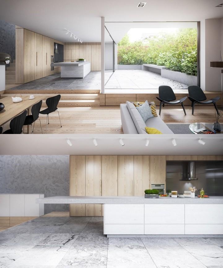 Prostorná kuchyň s terasou