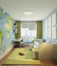 Dětský pokoj pro malé cestovatele