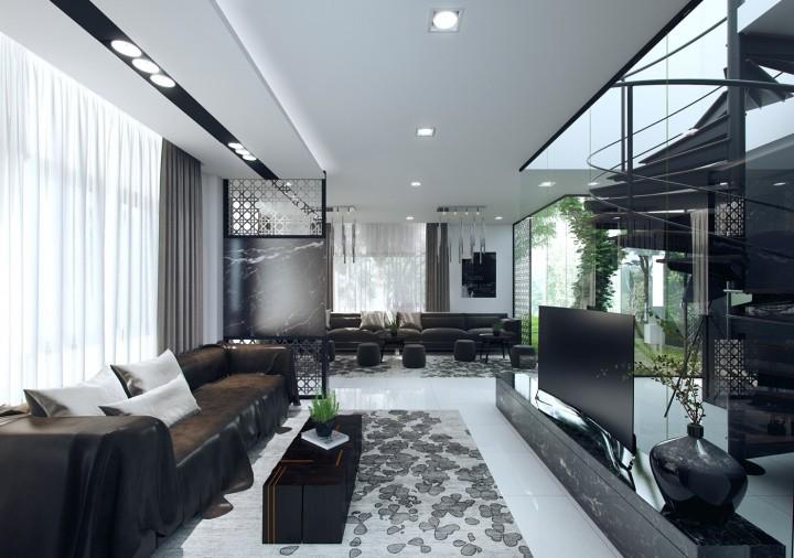 Obývací pokoj s luxusním vzhledem