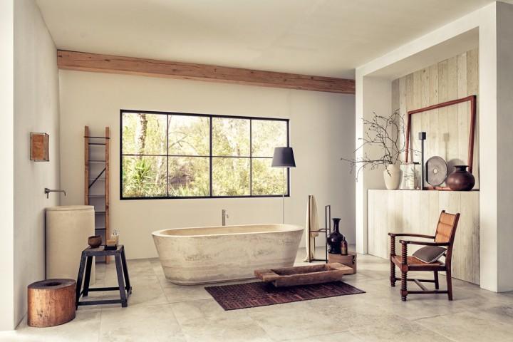 Koupelna v rustikálním duchu