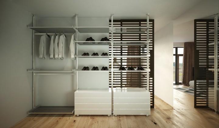 Funkční a prostorná šatní skříň