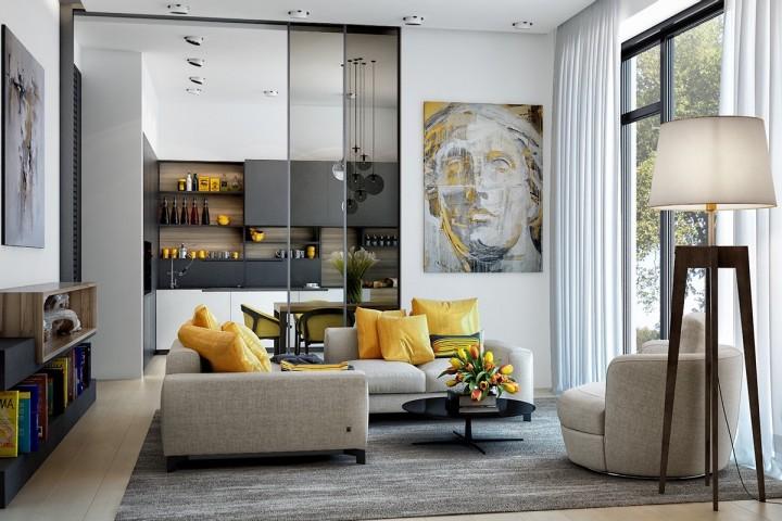 Výrazné barvy v interiéru