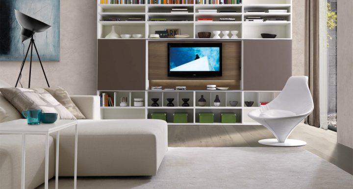 Moderní obývací pokoj s italským šmrncem