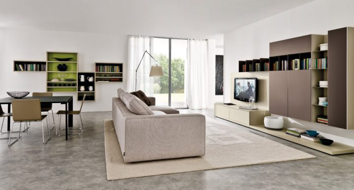 Obývací pokoj a jídelna v jednom