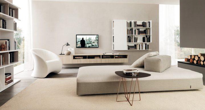 Luxusní obývací pokoj ve světlých barvách
