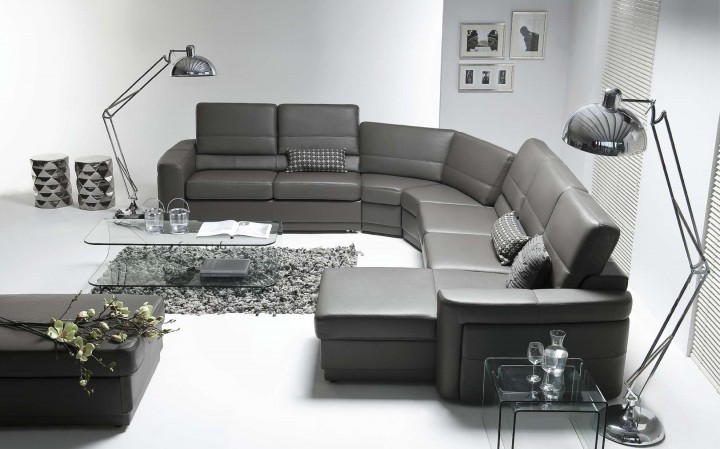 Studený luxus v obývacím pokoji