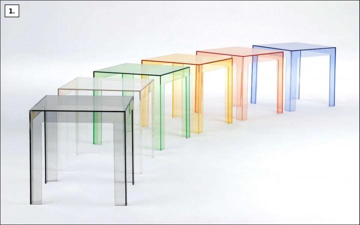 Designový transparentní stolek JOLLY