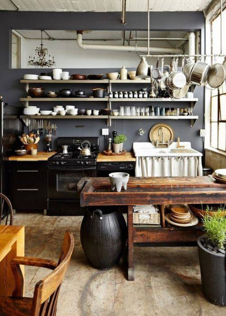 Kuchyň ve venkovském stylu