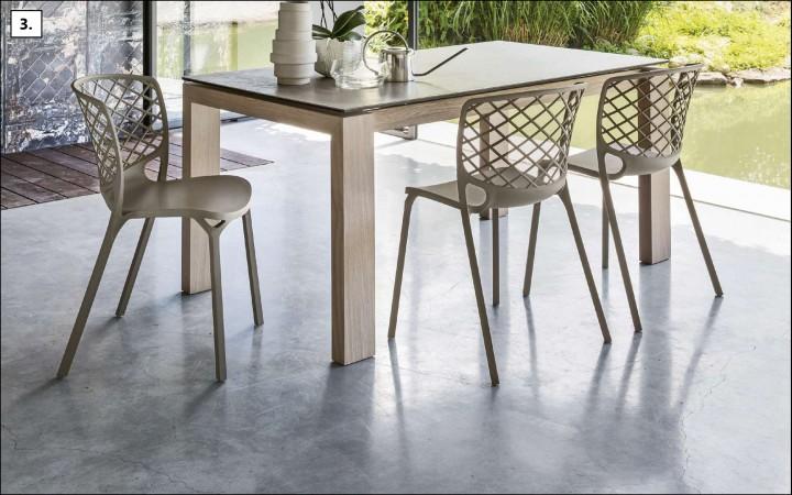 Extrémně lehká, stohovatelná židle GAMERA