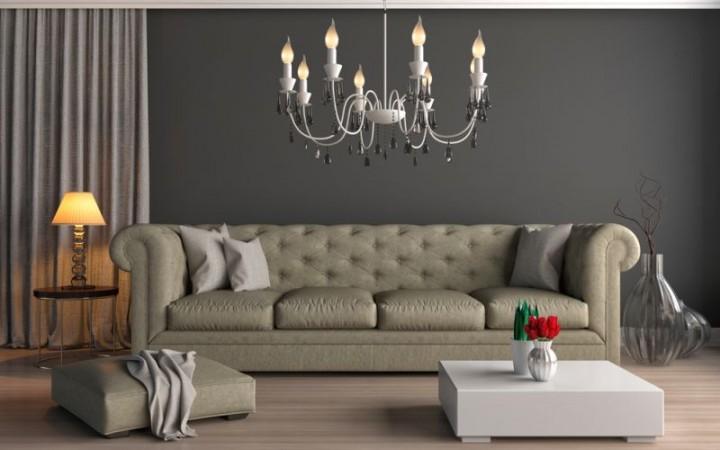 Historický nádech v obývacím pokoji