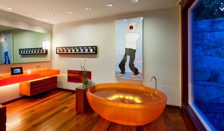 Moderní koupelna s LED světly
