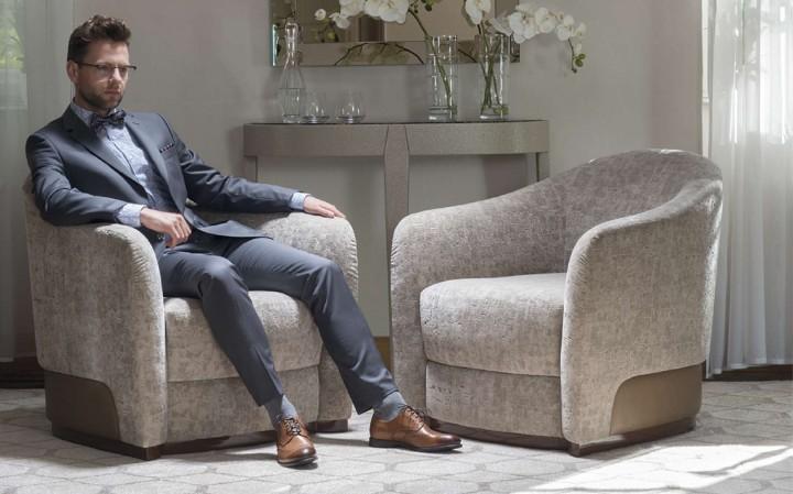 TANCREDI – pohodlné textilní křeslo