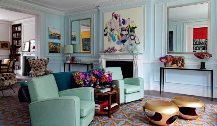 Extravagantní obývací pokoj